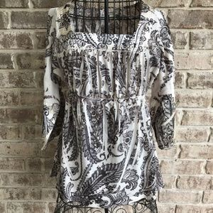 One World Peasant Tunic Top Floral Boho